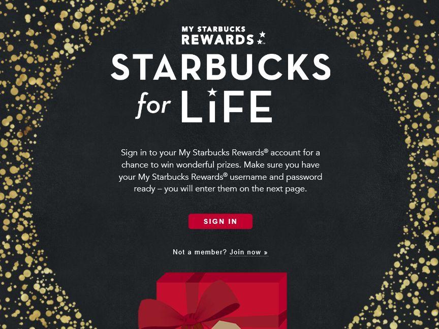 Starbucks for Life Sweepstakes