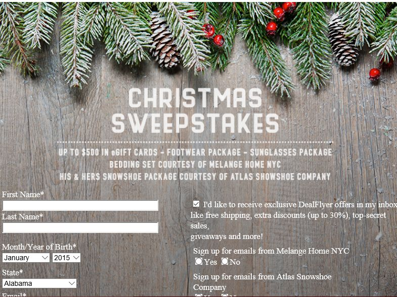 Sierra Trading Post Christmas Sweepstakes