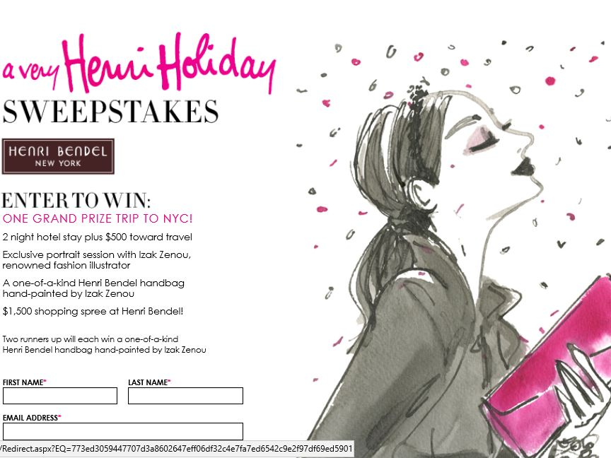 The Henri Bendel Holiday 2015 Sweepstakes