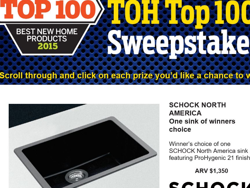 The TOH Top 100 Sweepstakes