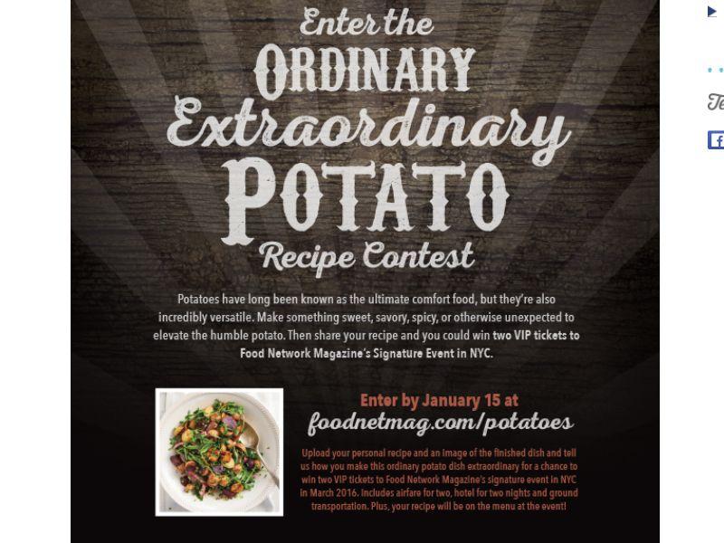 The food network magazine ordinary extraordinary potato recipe contest forumfinder Gallery