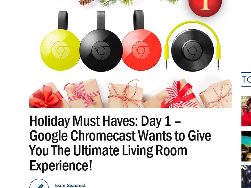 Ryan Seacrest's Holiday Must Haves Sweepstakes