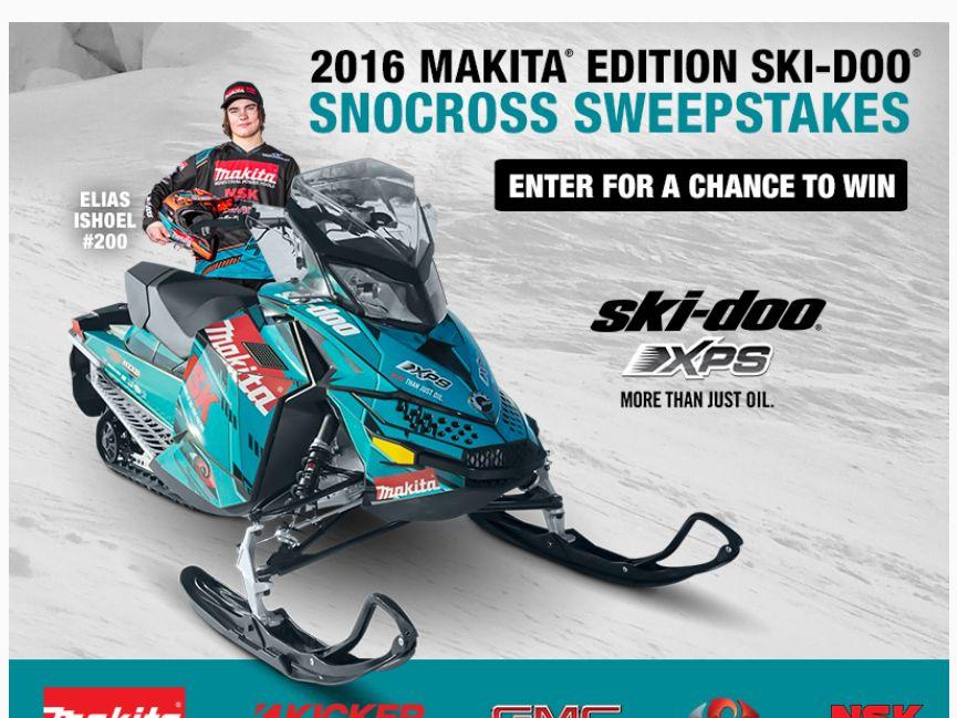 Makita Ski-Doo Snocross Sweepstakes