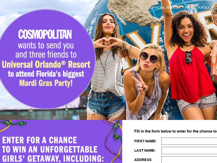 Cosmopolitan Universal Orlando Resort Mardi Gras Getaway Sweepstakes