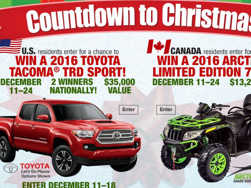 """Bass Pro Shops """"Countdown to Christmas 2015"""" Sweepstakes"""