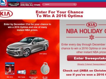 The NBA.com Holiday Gift Promotion Sweepstakes