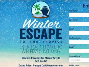 The Margaritaville Vacation Club Winter Escape Sweepstakes