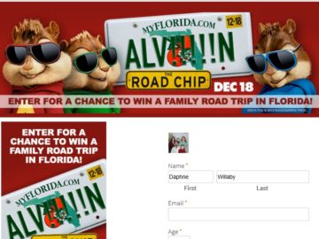 ALVIN AND THE CHIPMUNKS: THE ROAD CHIP Sweepstakes