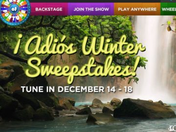 The Wheel of Fortune Adios Winter Sweepstakes