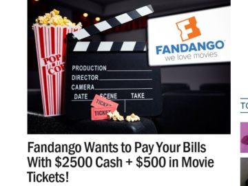 Ryan Seacrest's Fandango Pay Your Bills Sweepstakes