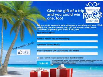 The Orbitz Ultimate Re-gift Contest