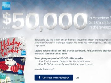 American Express Gift Card Sweepstakes