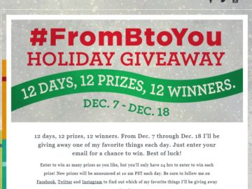 Bethenny #FromBtoYou Holiday Giveaway Sweepstakes