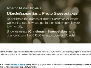"The Amazon Music Originals ""Christmas In…"" Photo Sweepstakes"