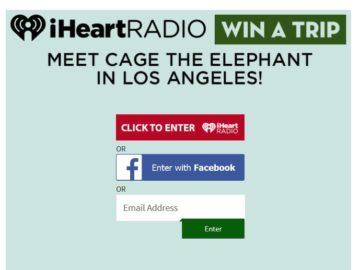 iHeartRadio Cage The Elephant Flyaway Sweepstakes