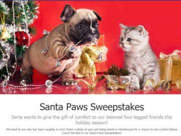 The Serta Santa Paws Sweepstakes