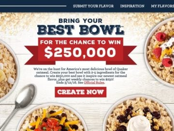 Quaker Bring Your Best Bowl Promotion