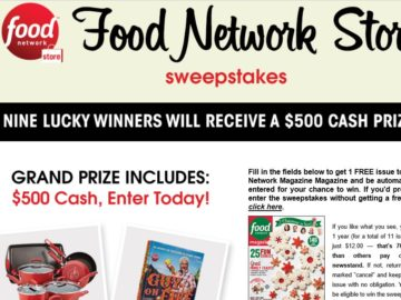 Food Network Store Sweepstakes