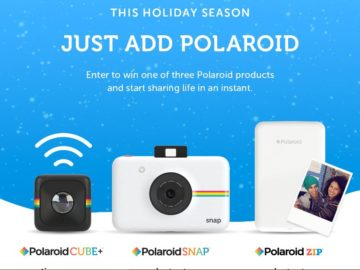 """The """"Just Add Polaroid"""" Holiday Sweepstakes"""