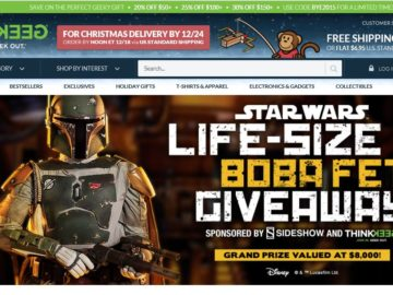 The ThinkGeek Boba Fett Life-Sized Figure Giveaway Sweepstakes