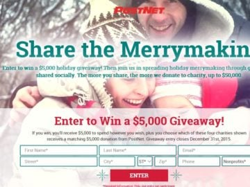 "The PostNet ""Share the Merrymaking"" Sweepstakes"