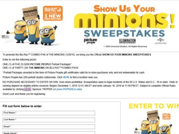 Show Us Your Minions Sweepstakes