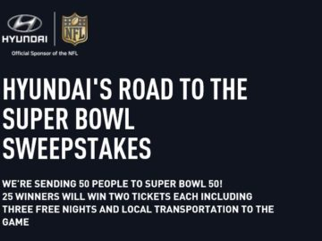 The Hyundai's Road to the Super Bowl Sweepstakes