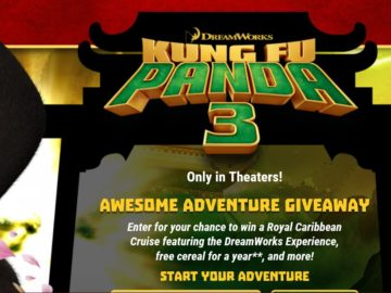 The Kung Fu Panda Awesome Adventure Giveaway Sweepstakes