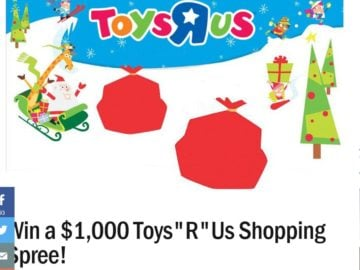 Ryan Seacrest's Toys R Us Holiday Gift Card Sweepstakes