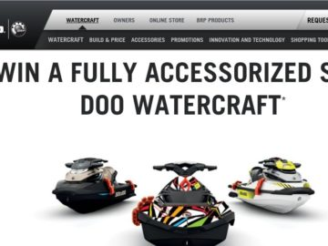 The Sea-Doo Win a BRP vehicle Sweepstakes