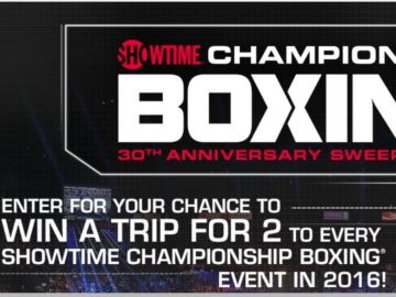 The Showtime Championship Boxing 30th Anniversary Sweepstakes