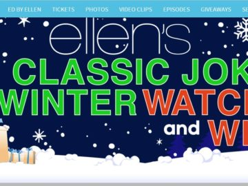 Ellen's Classic Joke Winter Watch and Win Contest