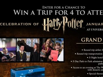 WARNER BROS. Wizarding World of Harry Potter Sweepstakes