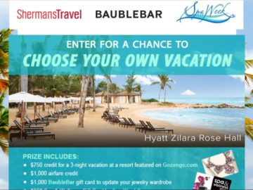 Shermans Travel Choose Your Own Vacation Sweepstakes