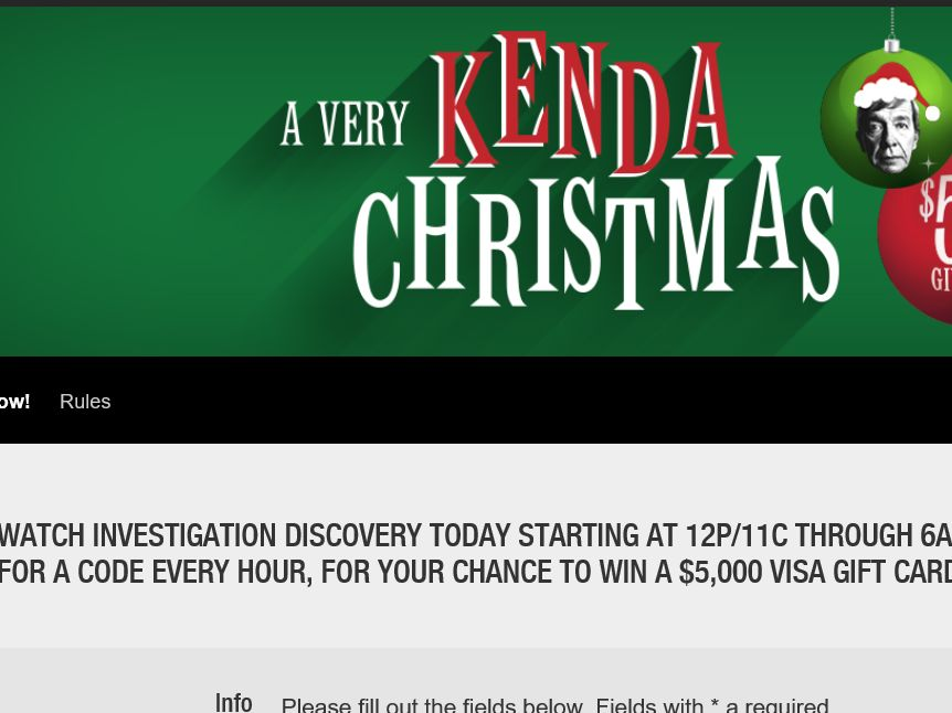 Investigation Discovery\'s A Very Kenda Christmas $5K Giveaway ...