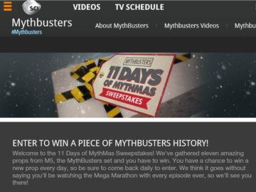 SCIENCE CHANNEL 11 Days of MythMas Sweepstakes