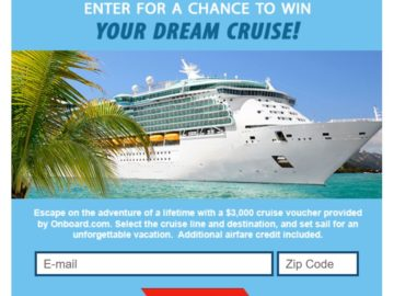 """The ShermansTravel """"Win Your Dream Cruise"""" Sweepstakes"""