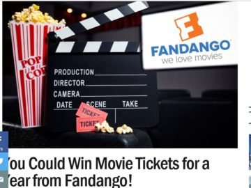 Ryan Seacrest's Fandango Movies For A Year 2 Sweepstakes