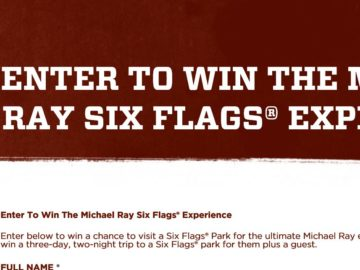 """The """"Michael Ray Six Flags Experience"""" Online Sweepstakes"""