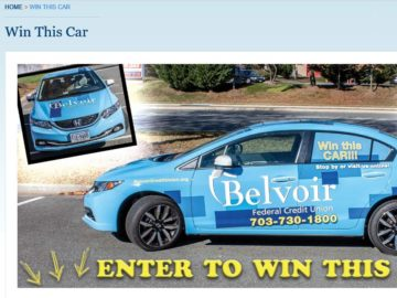 Belvoir Federal Credit Union Car Sweepstakes