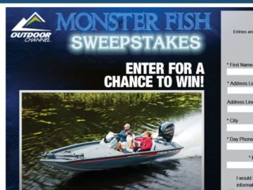 """Bass Pro Shops """"Monster Fish"""" Sweepstakes"""