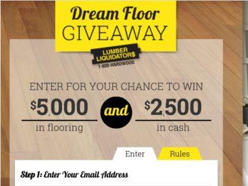 Lumber Liquidators Dream Floor Giveaway Sweepstakes