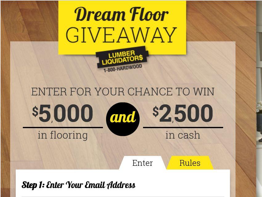 Lumber liquidators dream floor giveaway sweepstakes for Dream floor giveaway