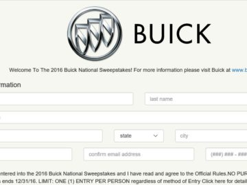 The 2016 Buick GMC National Sweepstakes