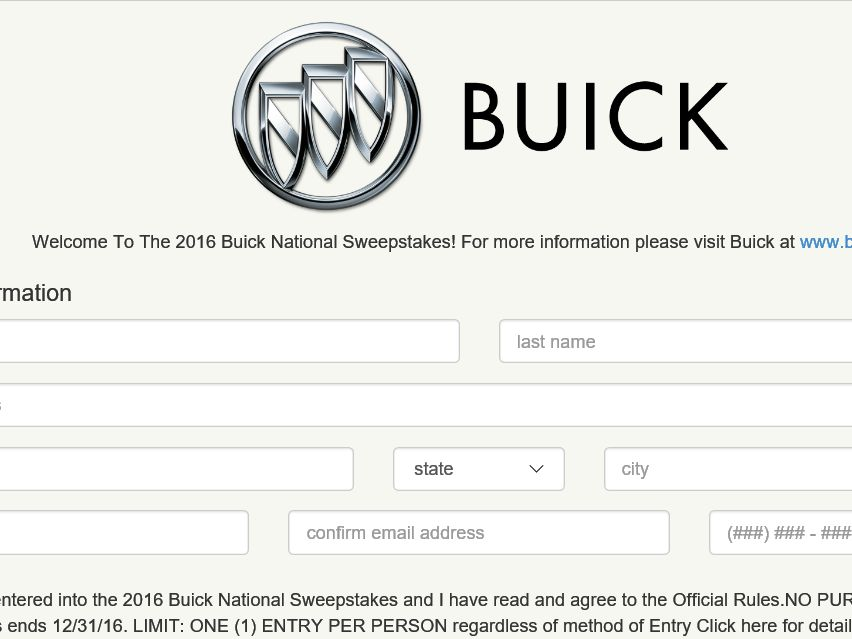 gmc national sweepstakes the 2016 buick gmc national sweepstakes 3401