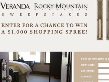 Rocky Mountain Veranda Sweepstakes