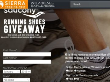 Sierra Trading Post Saucony Running Shoes Giveaway Sweepstakes
