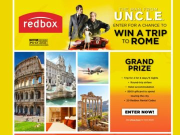Man from U.N.C.L.E. Sweepstakes – Win a Trip to Rome