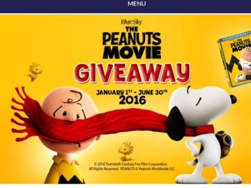 The Peanuts Movie Giveaway Sweepstakes