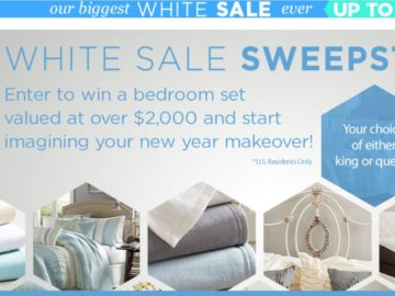 Overstock.com White Sale Sweepstakes